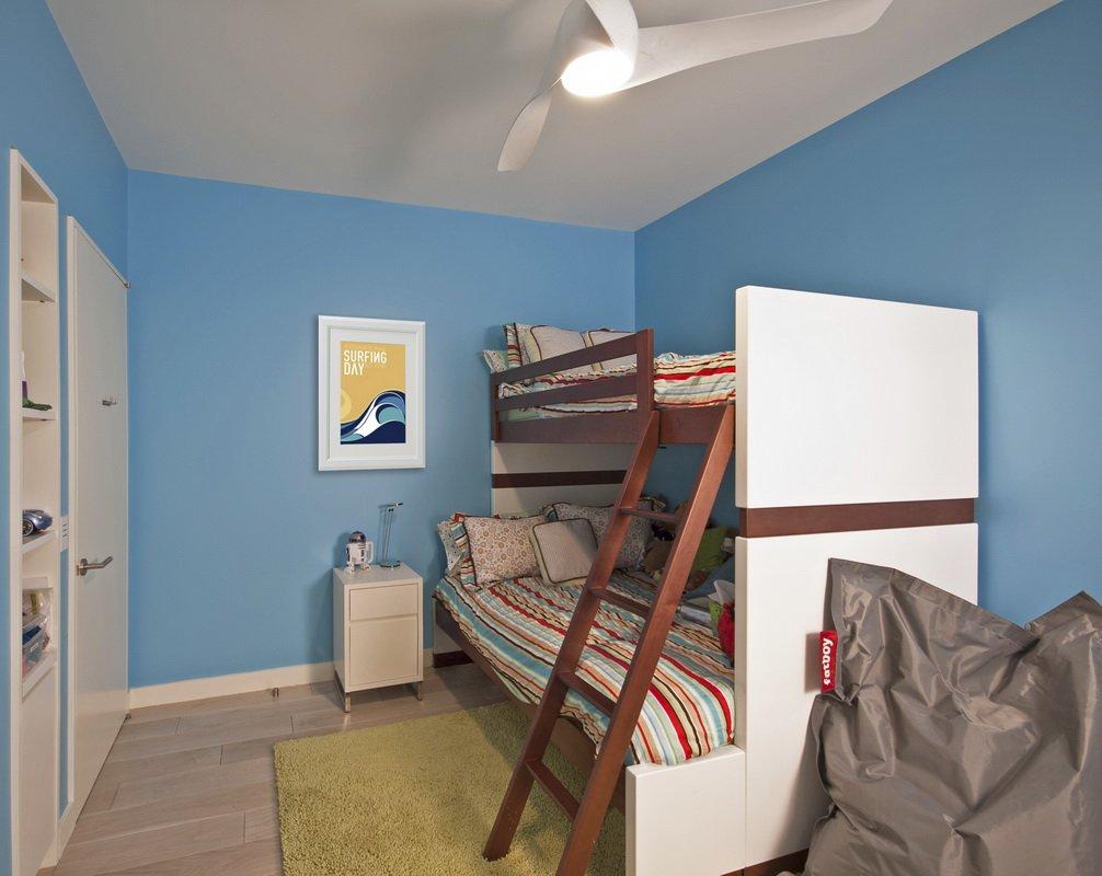 现代简约蓝色儿童房装修效果图