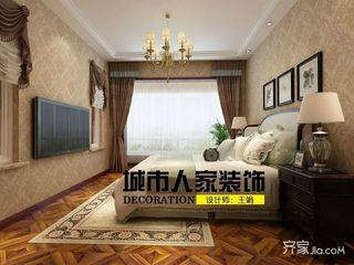 大户型中式别墅装修卧室效果图