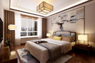 150㎡中式装修卧室效果图
