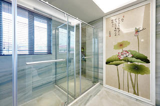 四居室中式风格家卫生间效果图