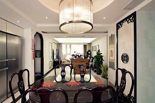 中式风格三居装修餐厅吊灯图片
