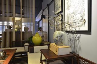 中式风格工作室装修茶台装饰摆件
