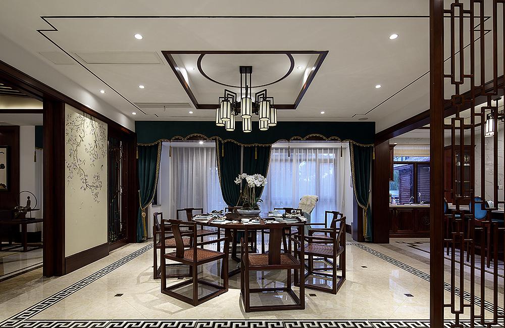 中式风格别墅餐厅装修设计图