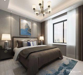 200平中式风格卧室装修效果图