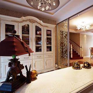 160平复式欧式风格装修书桌装饰摆件