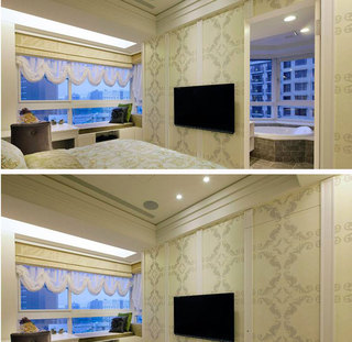 欧式风格二居室80平米装修图片