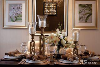 130平欧式装修餐桌布置图