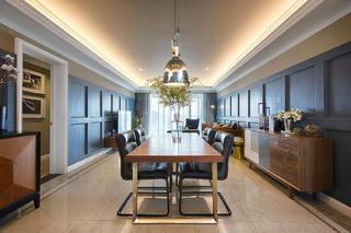 美式公寓装修餐厅设计图