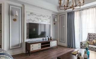 美式风格电视背景墙装修效果图