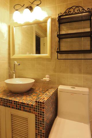 地中海三居装修洗手台图片