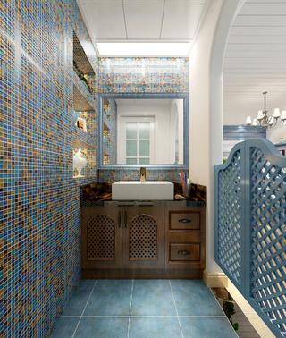 三居室地中海风格家卫生间装潢图
