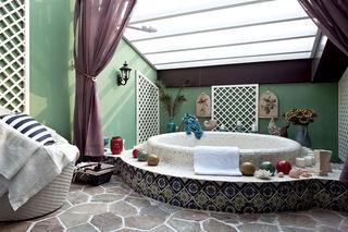 地中海风格 别墅浴室装潢欣赏图