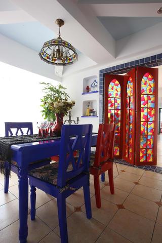 地中海三居装修餐厅搭配图