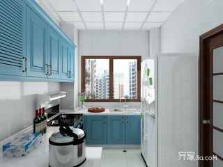 76平地中海风格二居厨房装修效果图
