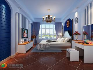 地中海三居卧室装修效果图