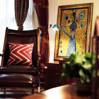 东南亚风格三居室60平米设计图