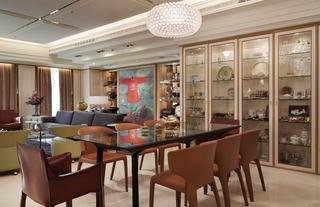 新古典风格餐厅餐边收纳柜设计