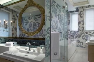 新古典卫生间马赛克背景墙装饰设计图