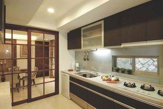 I字型厨房 新古典风格推拉门装饰