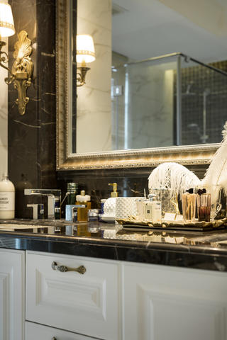 新古典三居装修洗手台图片