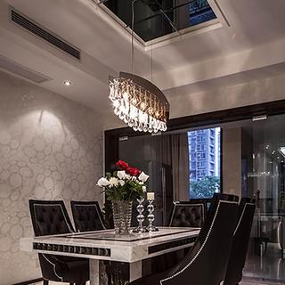 新古典两居室公寓装修餐厅设计图