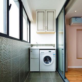 混搭设计 阳台改造洗衣房效果图