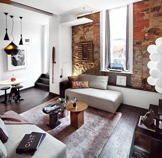怀旧红砖墙混搭公寓家居设计