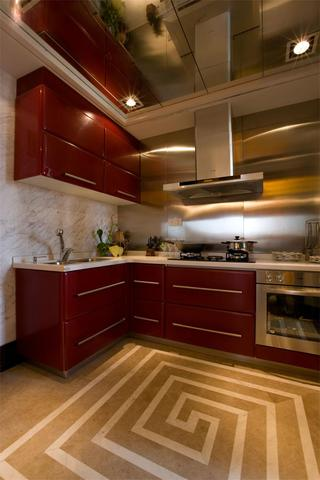 个性复古混搭风厨房装修案例