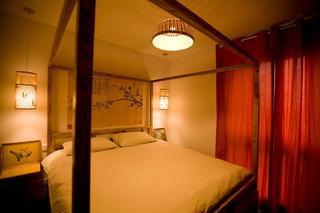 中式混搭卧室软装设计