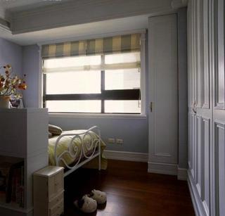 紫色宜家风卧室窗户效果图