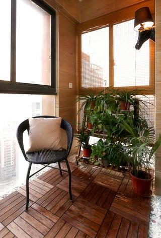 宜家风格二居装修阳台布置图