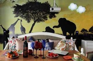 创意森系北欧风情手绘墙画设计