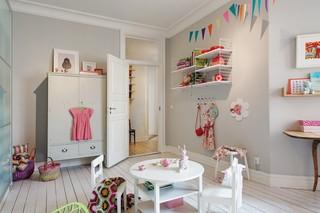 时尚甜美粉系北欧风情儿童房设计效果图