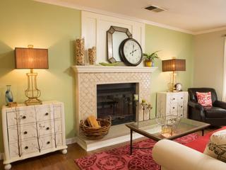 清新复古北欧风家居壁炉设计