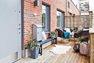 复古北欧文化砖生活阳台效果图