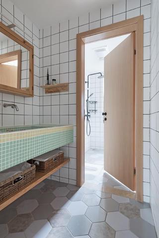 北欧三居装修洗手台图片