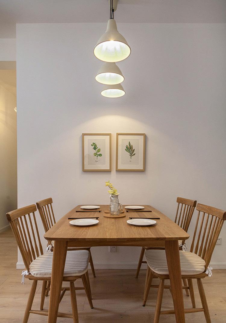 北欧风格原木餐桌椅设计图