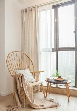 北欧风格装修客厅休闲一角