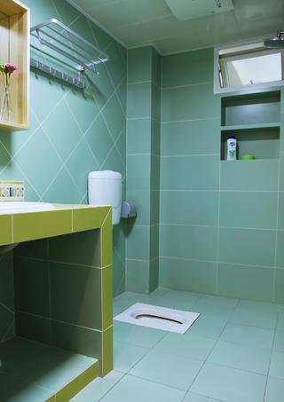 100平日式风格家卫生间实景图