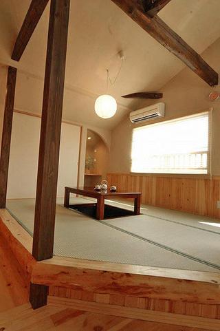 古典原木日式装修风格休息区设计欣赏图