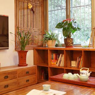 日式和风茶室 局部实木家居设计