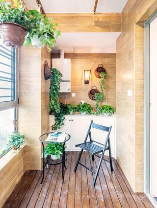 二居室日式风格家阳台欣赏图