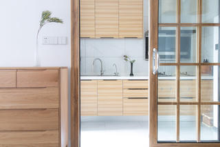 二居室日式风格家厨房设计图