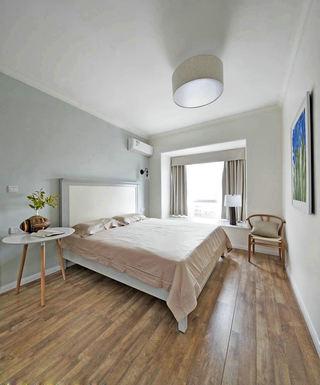 原木日式风卧室装潢图