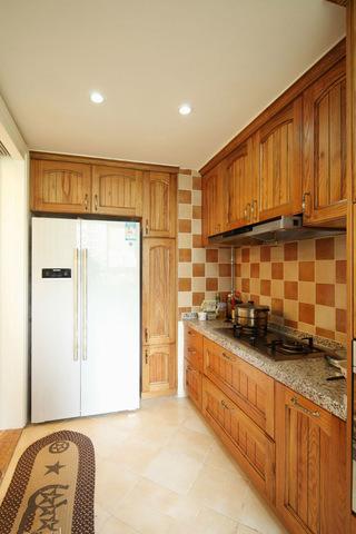 复古美式家居厨房实木橱柜大全