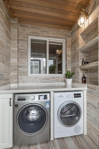 105平美式三居洗衣房设计图