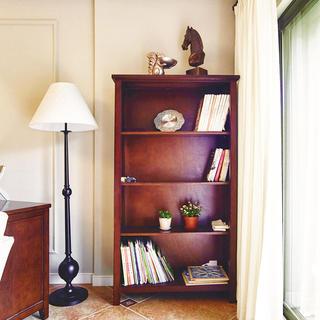 复古美式实木书柜图片