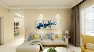 温馨简约沙发背景墙装修效果图