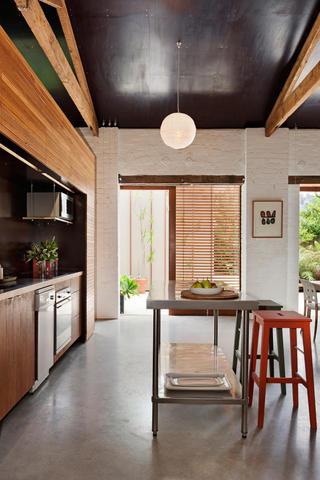 休闲美式开放式厨房餐厅设计