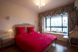 100平法式风格家卧室布置图